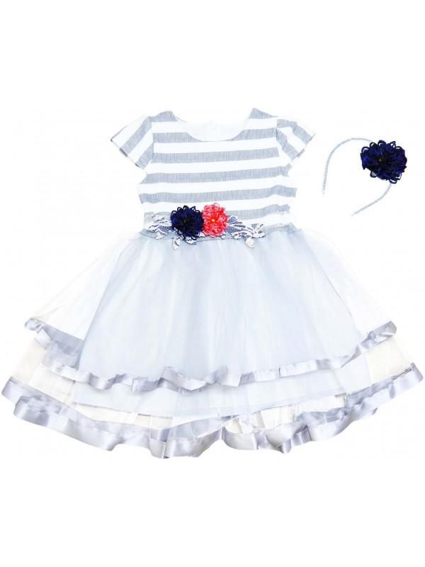 Детское свадебное платье для девочек 5-6-7-8 лет, оптовая модель 1
