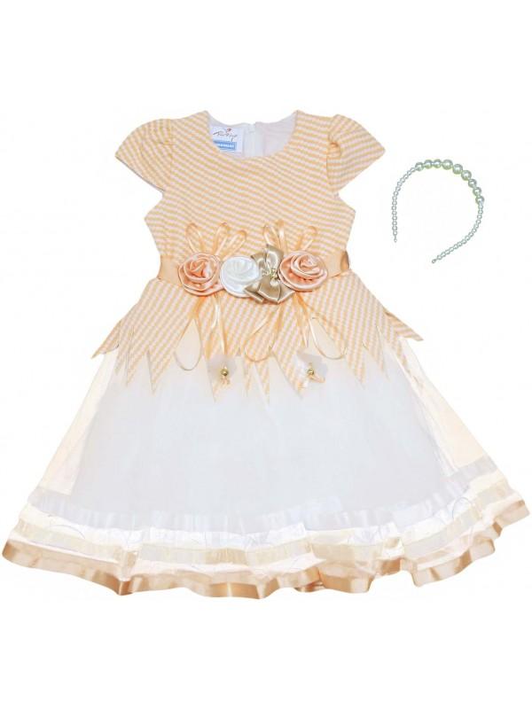 5-6-7-8 yaş kız çocuk gelinlik elbise toptan model 22