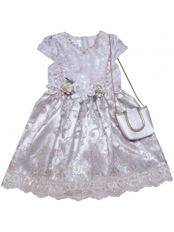 6-8-10-12 лет девочки детское свадебное платье оптом модель 9