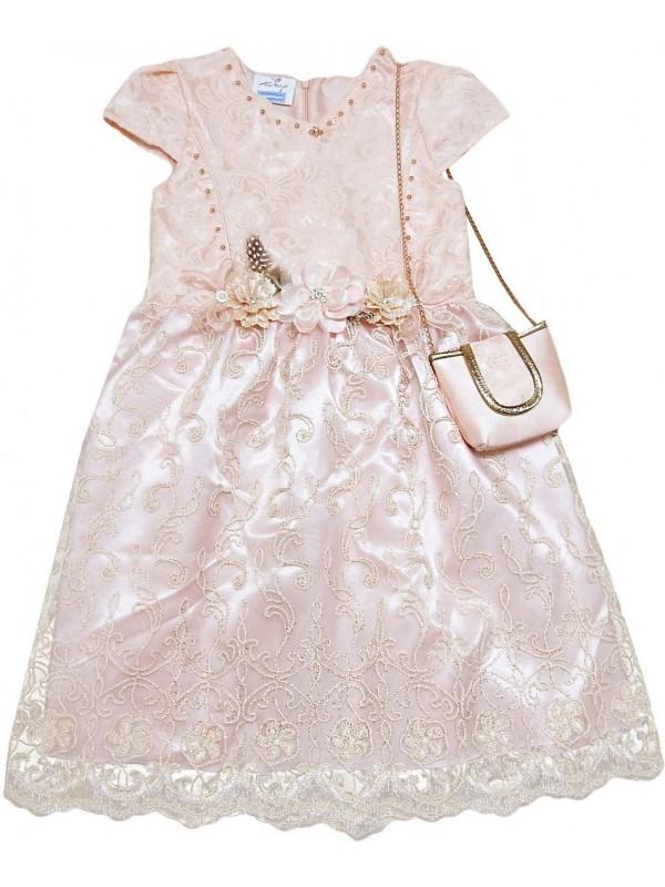 6-8-10-12 лет девочки детские свадебные платья оптом модель 8