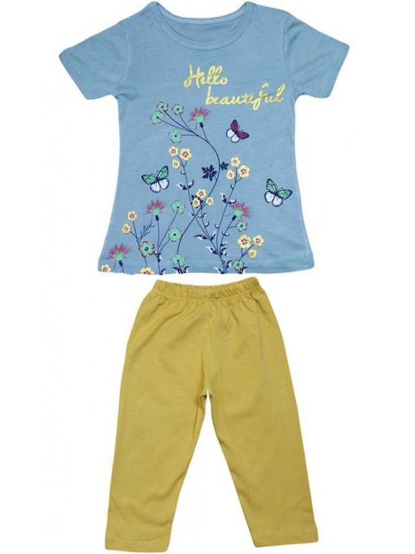 2-3-4-5 age wholesale girls summer dress double suit Mt