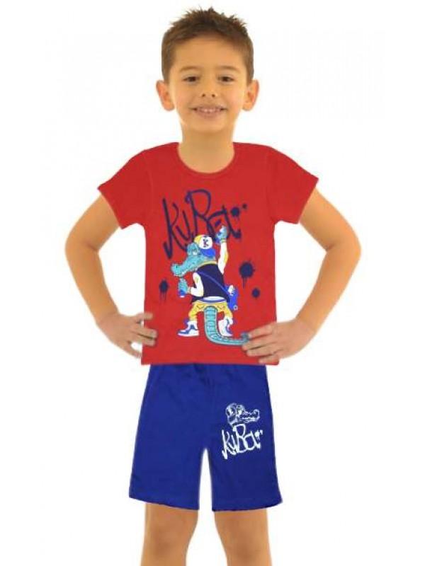 5-6-7-8 yaş toptan ucuz erkek çocuk giyim yazlık takım M1