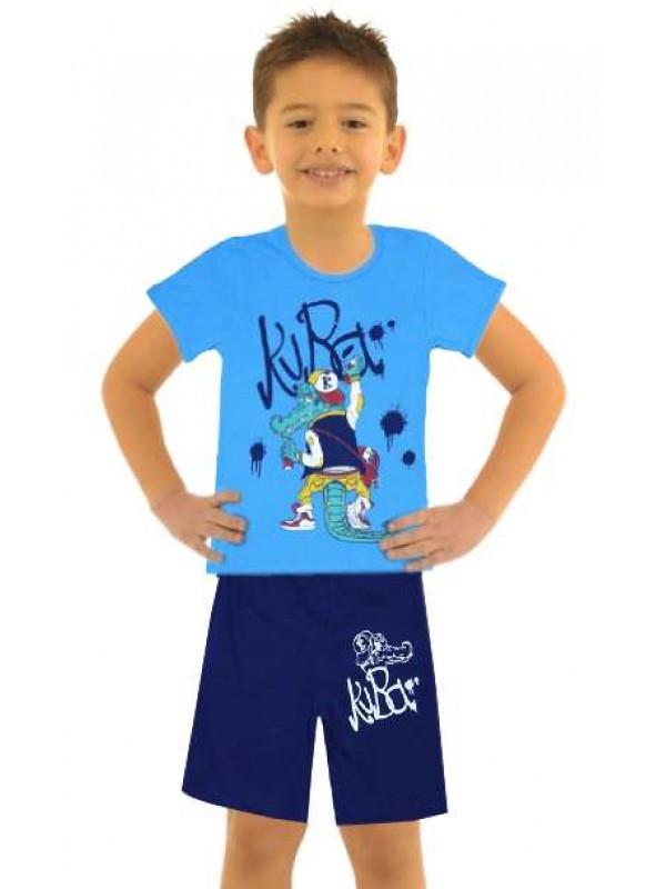 5-6-7-8 yaş toptan ucuz erkek çocuk giyim yazlık takım M2