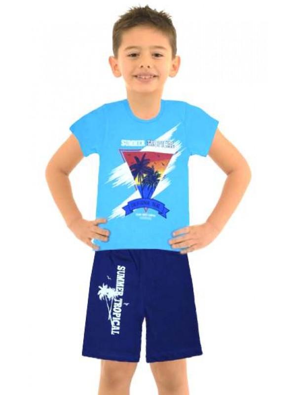 5-6-7-8 yaş toptan ucuz erkek çocuk giyim yazlık takım M4