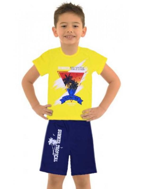 5-6-7-8 yaş toptan ucuz erkek çocuk giyim yazlık takım M5