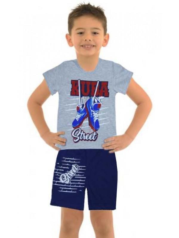 5-6-7-8 yaş toptan ucuz erkek çocuk giyim yazlık takım M7
