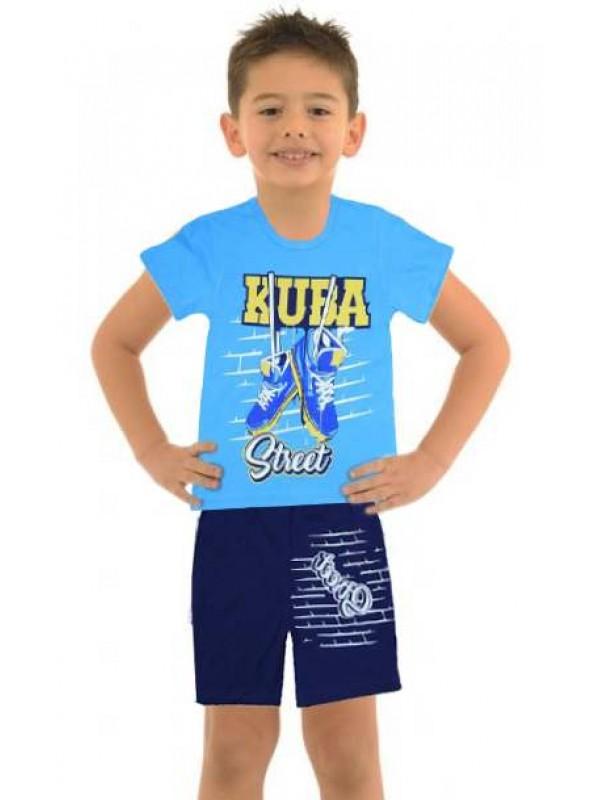 5-6-7-8 yaş toptan ucuz erkek çocuk giyim yazlık takım M8