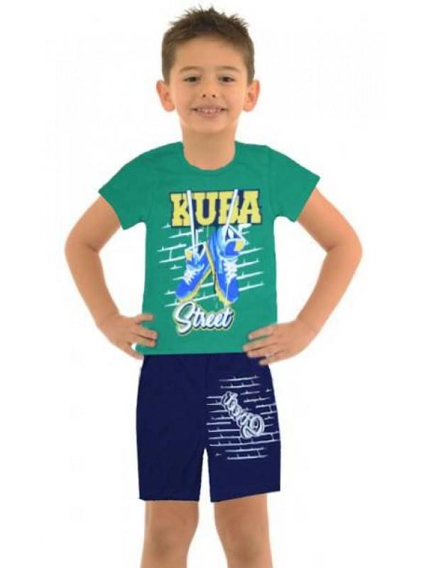 5-6-7-8 yaş toptan ucuz erkek çocuk giyim yazlık takım M9