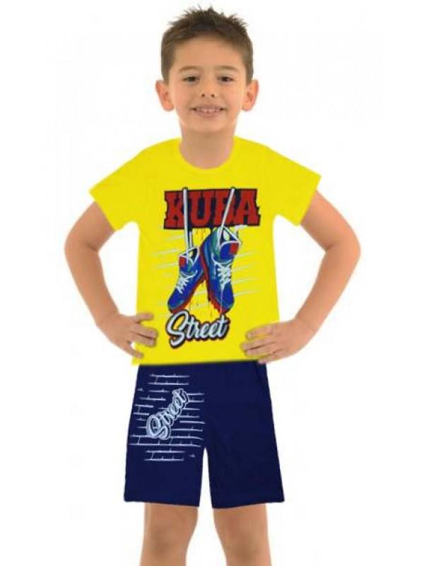5-6-7-8 yaş toptan ucuz erkek çocuk giyim yazlık takım M10