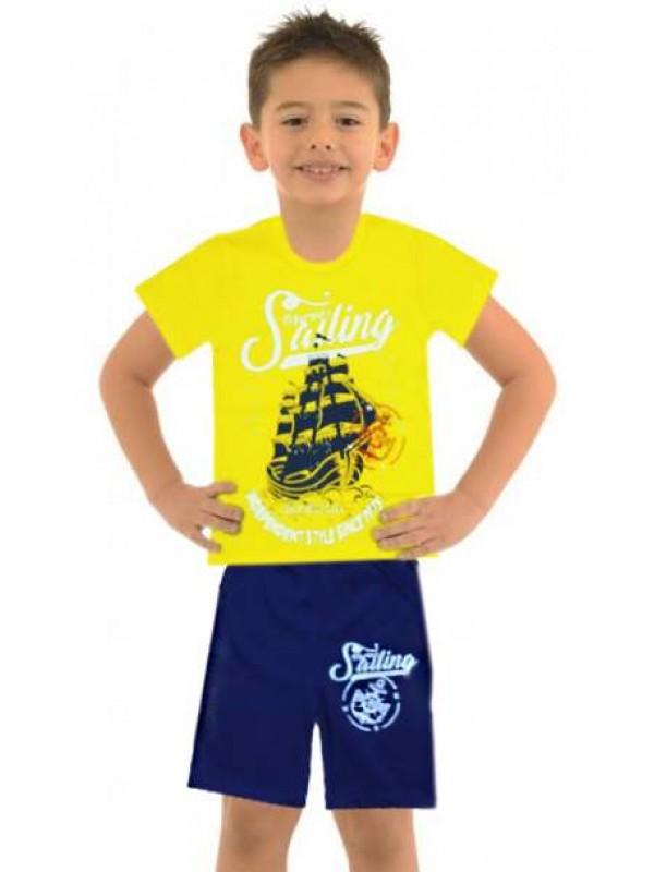 5-6-7-8 yaş toptan ucuz erkek çocuk giyim yazlık takım M15