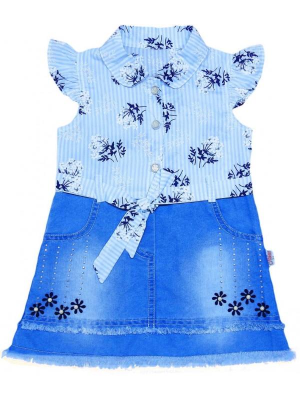 2-3-4-5 age girls denim gilet dress wholesale Mc