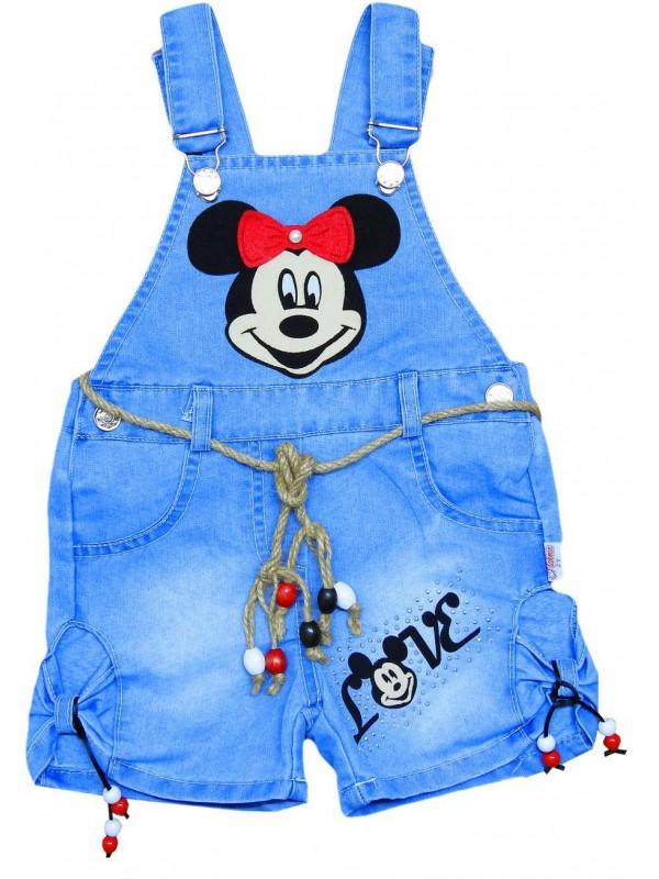 Джинсовое платье-жилет для девочек 2-3-4-5 лет оптом Md