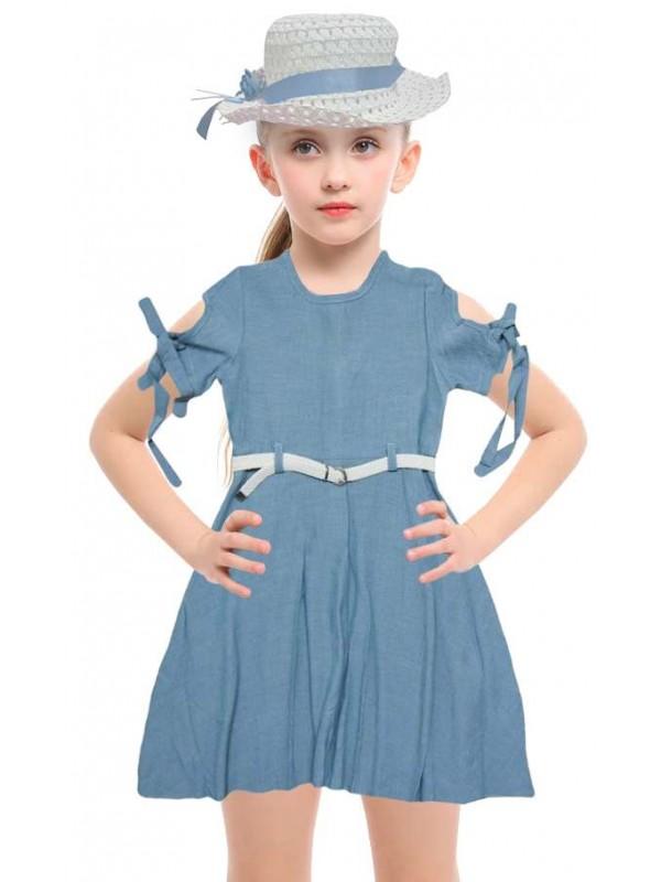5-6-7-8 age new season girls dress wholesale model-f