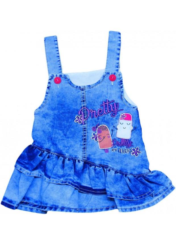 1-2-3-4 age girls jeans gilet dress wholesale Md