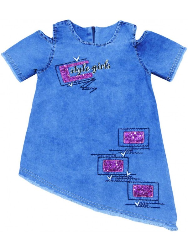 3-4-5-6 age girls denim gilet dress wholesale Ga