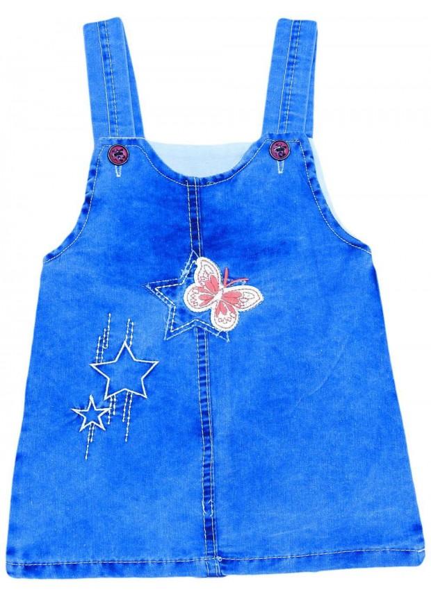 1-2-3-4 age girls jeans gilet dress wholesale Me