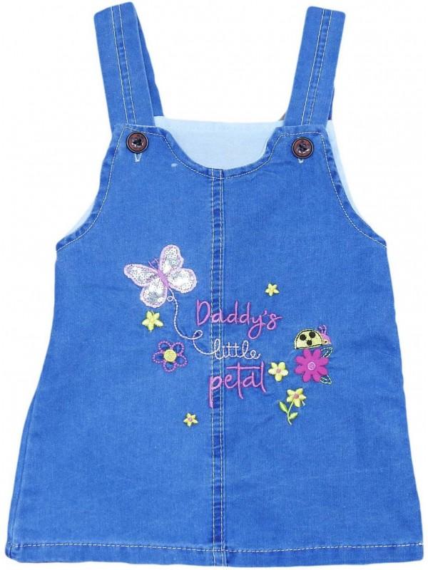 1-2-3-4 yaş kız çocuk kot jile elbise toptan Mf