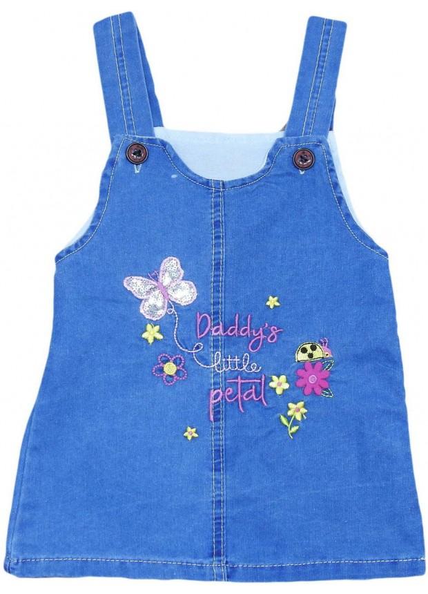 1-2-3-4 age girls denim gilet dress wholesale Mf