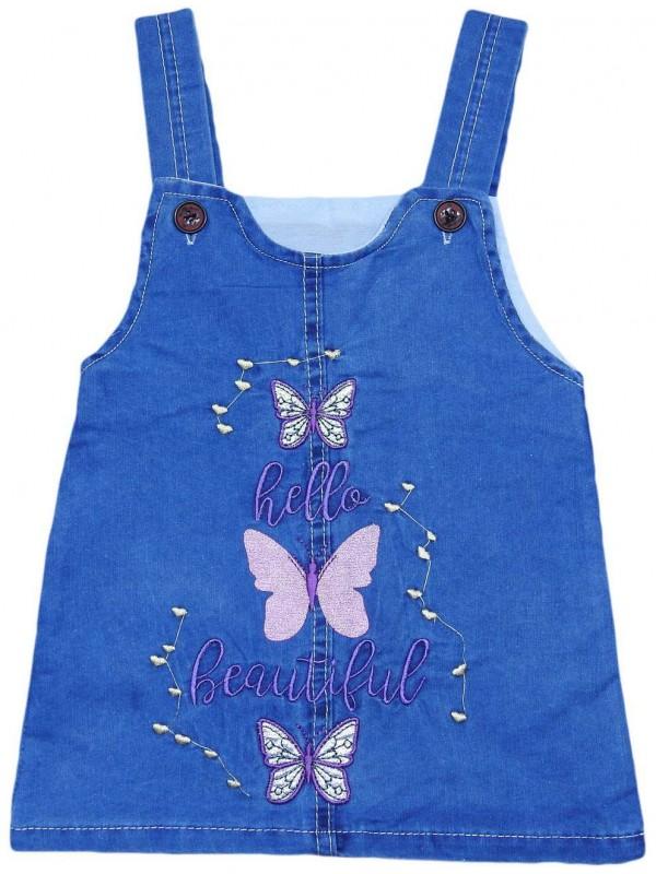 Платье-жилет из денима для девочек 1-2-3-4 лет оптом Mk