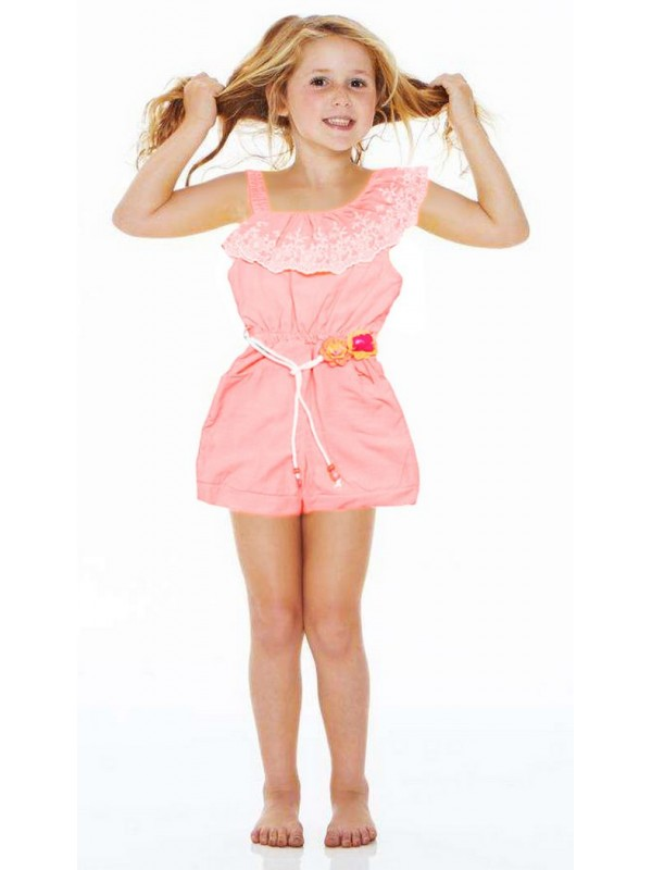 4-5-6 age summer wonderful girls dress wholesale pink color