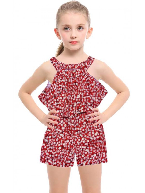 1-2-3 age fabric salopet girls dress wholesale model-a