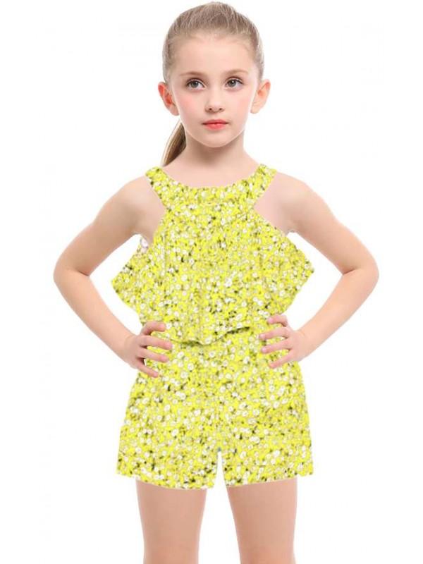 1-2-3 age fabric salopet girls dress wholesale model-b