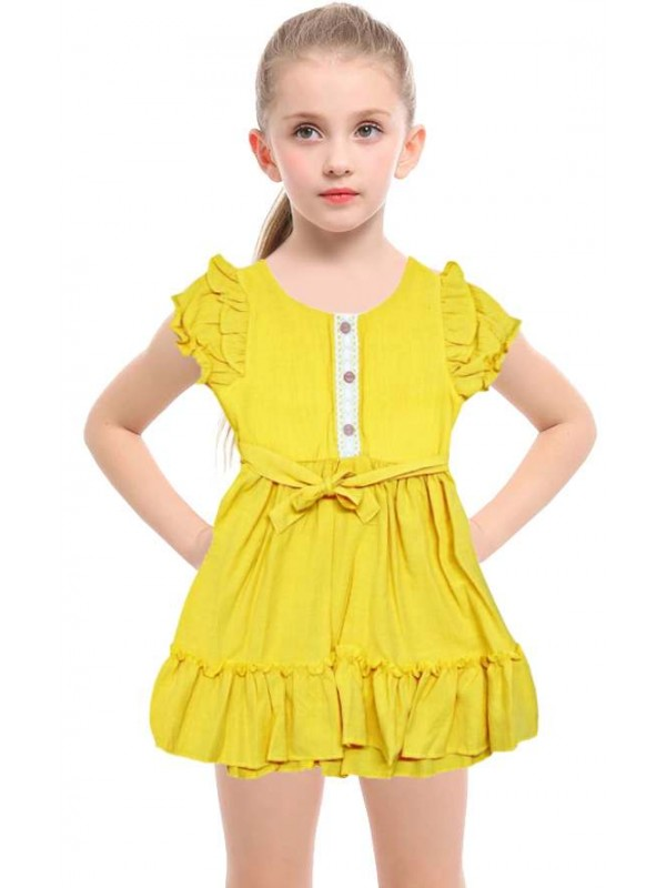 1-2-3 age flashy classy girl dress wholesale model-b