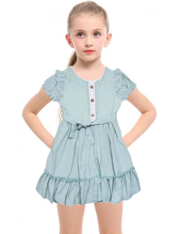 1-2-3 yaş gösterişli klas kız çocuk elbise toptan model-c