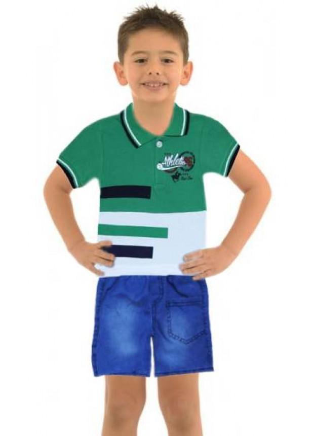 1-2-3 age boy summer shirt denim capri suit Me