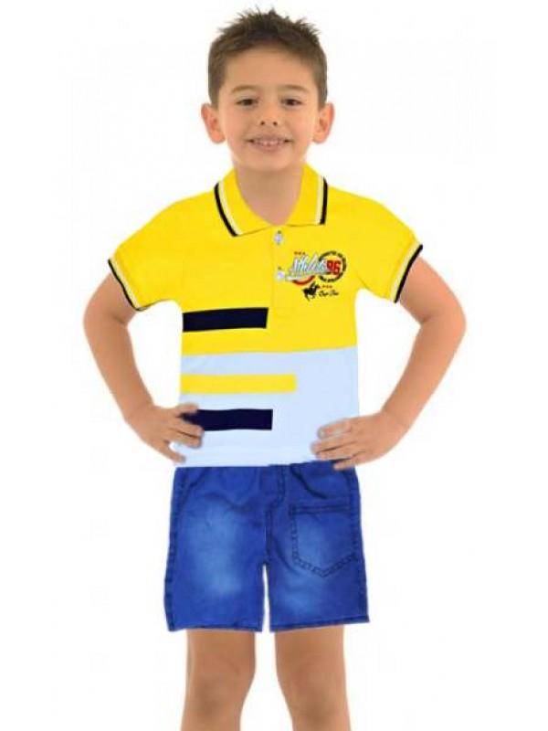 1-2-3 yaş erkek çocuk yazlık gömlek kot kapri takım Mf