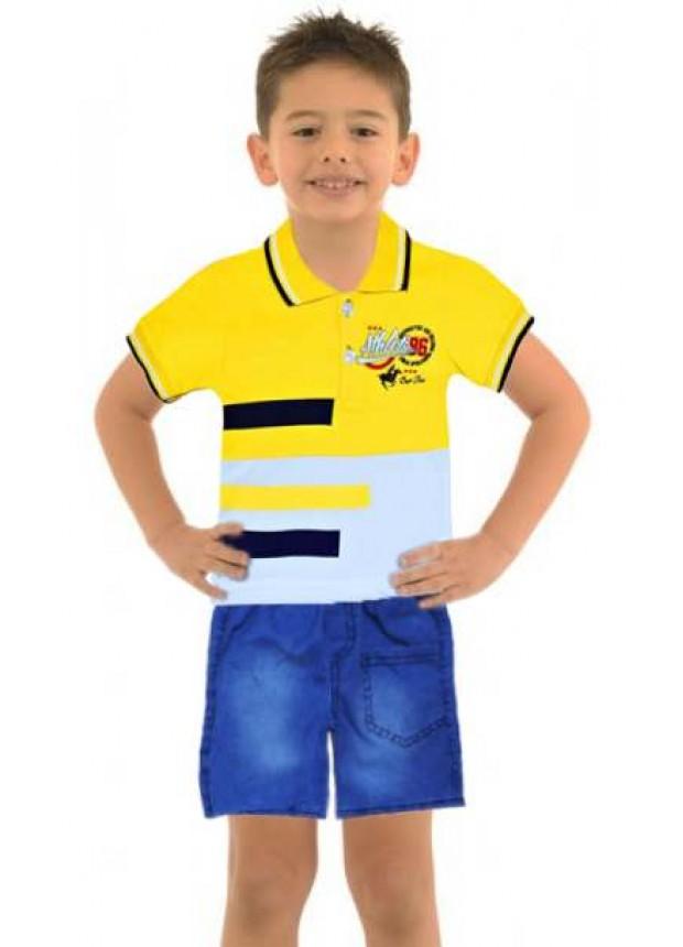 1-2-3 age boy summer shirt denim capri suit Mf