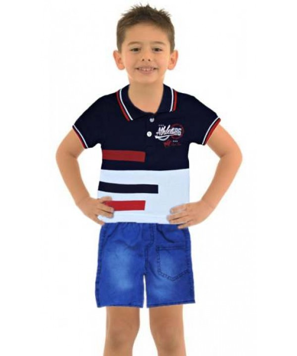 1-2-3 age boy summer shirt denim capri suit Mg