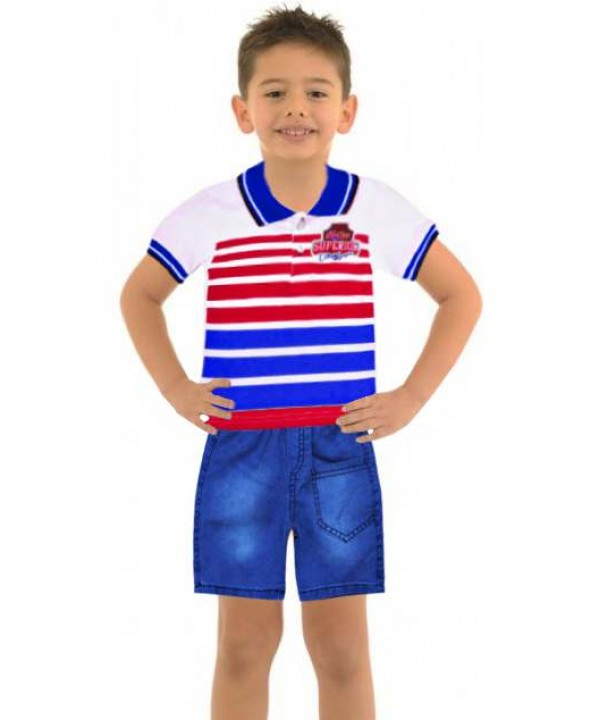 1-2-3 age summer boys clothing sets wholesale model-a