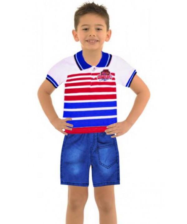 Комплекты летней одежды для мальчиков 1-2-3 лет оптом модель-а