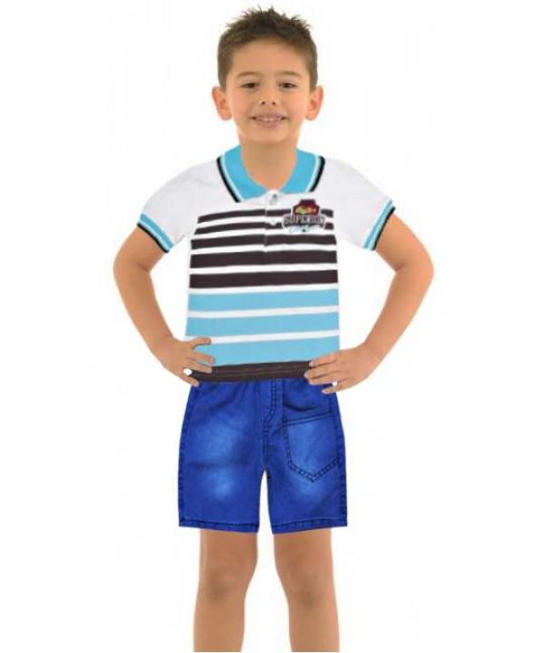Комплекты летней одежды для мальчиков 1-2-3 лет оптом модель-c