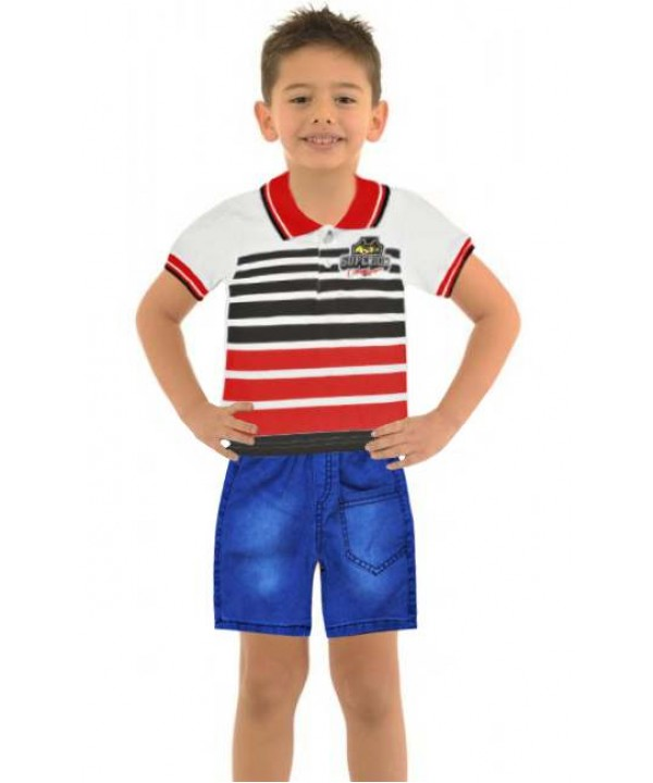 1-2-3 age summer boys clothing sets wholesale model-d