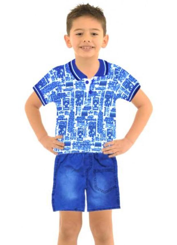 1-2-3 age boy summer shirt denim capri suit Mi