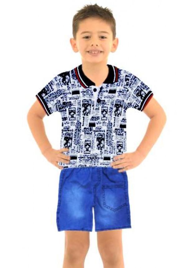 1-2-3 age boy summer shirt denim capri suit Mk