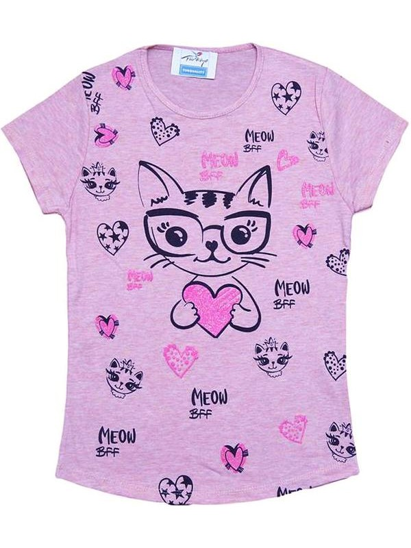8-9-10-11-12 age cheap kitty girls T-shirt wholesale R2