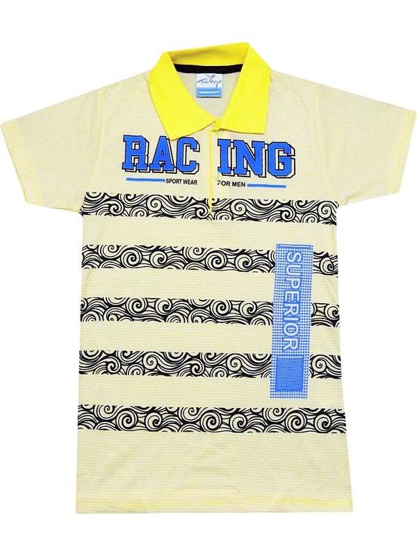 8-9-10-11-12 yaş ucuz yazlık erkek çocuk tişört lacoste yaka R2