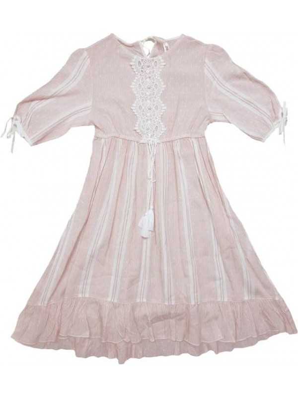 High quality and stylish pink summer girls dress for 10-11-12-13 years