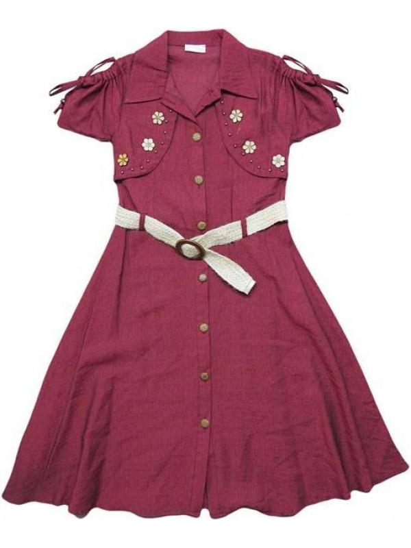 10-12-14 yaş Yazlık kız elbiseleri kaliteli toptan model2