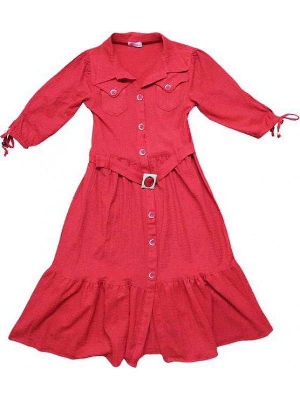10-12-14 yaş Yazlık kız elbiseleri kaliteli toptan model6