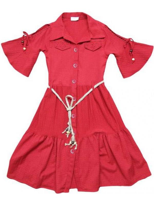 10-12-14 yaş Yazlık kız elbiseleri kaliteli toptan model9