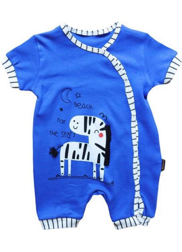 3-6-9 месяцев 100% хлопок комбинезон для новорожденных синего цвета