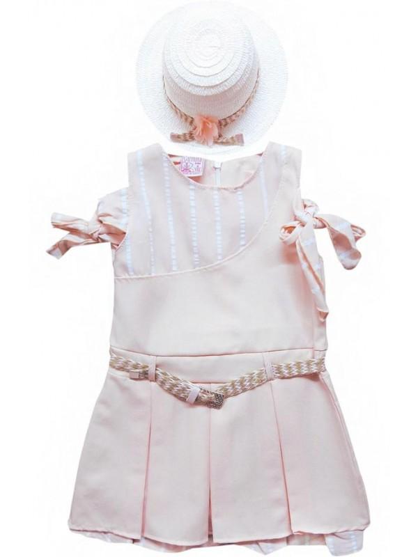 1-2-3-4 yaş yeni model kız elbise yazlık renk 1
