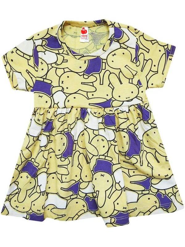 1-2-3-4 yaş ucuz yazlık karışık desenli kız çocuğu elbiseleri 1Mdl