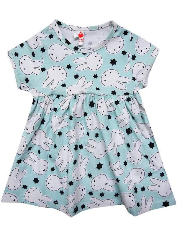 1-2-3-4 years cheap summer mixed print girls dresses 4Mdl