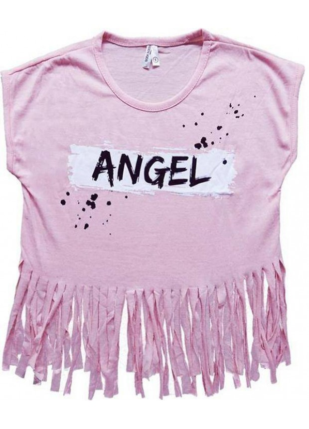 2-3-4-5-6-7 years girls t-shirt with tassels summer color 4