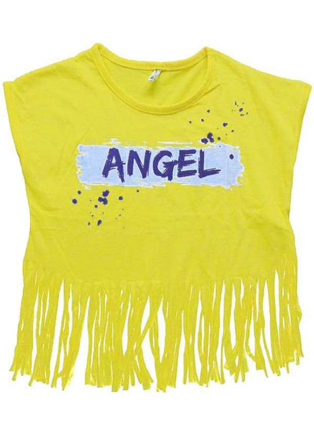 2-3-4-5-6-7 years girls t-shirt with tassels summer color 5